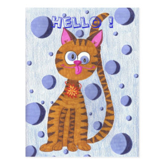 Cannelle cat Hello Postcards