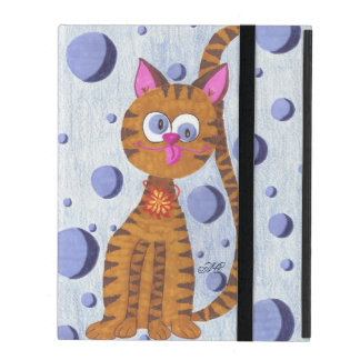 Cannelle the Cat blue iPad Cases
