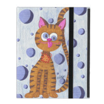 Cannelle the Cat blue iPad Cover