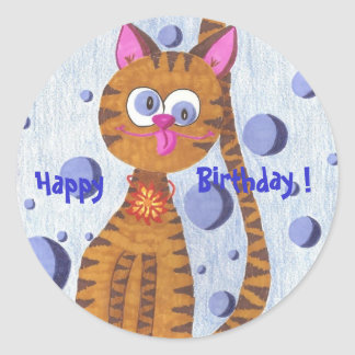 Cannelle the cat Happy, Birthday ! stickers