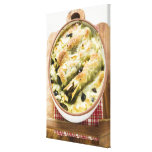 Cannelloni with spinach & sheep's cheese filling canvas print