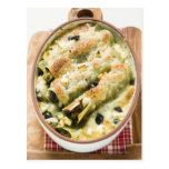 Cannelloni with spinach & sheep's cheese filling postcard