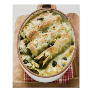 Cannelloni with spinach & sheep's cheese filling poster