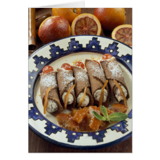 Canneloni di ricotta - Sicily - Italy For use Card