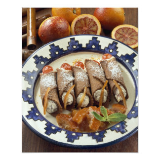 Canneloni di ricotta - Sicily - Italy For use Photo Print
