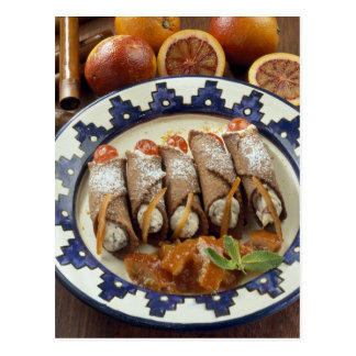 Canneloni di ricotta - Sicily - Italy For use Postcard