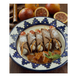 Canneloni di ricotta - Sicily - Italy For use Poster