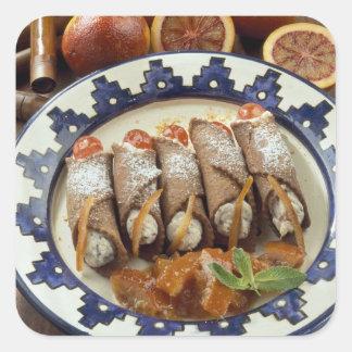 Canneloni di ricotta - Sicily - Italy For use Square Stickers