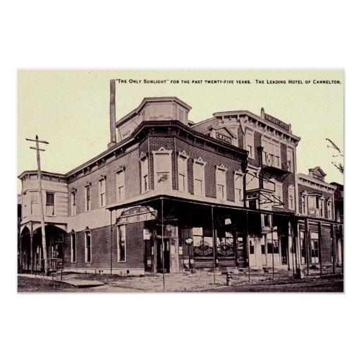 Cannelton Indiana Sunlight Hotel Posters