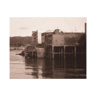 Cannery Row Stretched Canvas Print