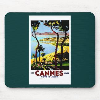 Cannes and Cote D'Azur Vintage Poster Cards Mousepad