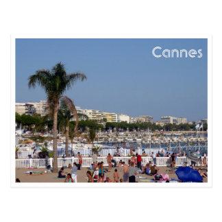 cannes coastline postcard