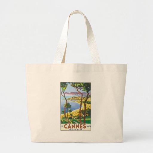 Cannes Cote D' Azur Large Tote Bag