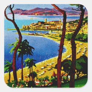 Cannes ~ Cote d'Azur Square Sticker