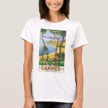 Cannes Cote D'Azur Vintage Travel Poster T-Shirt