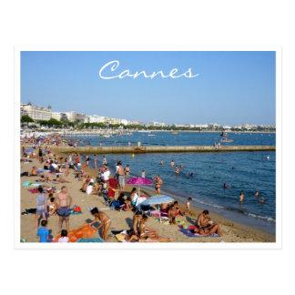 Cannes de la playa tarjeta postal