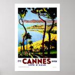 Cannes France Vintage Travel Poster