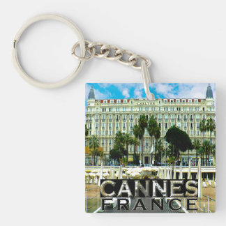 Cannes Single-Sided Square Acrylic Keychain