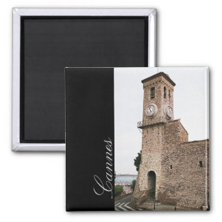 Cannes, old tower 2 inch square magnet