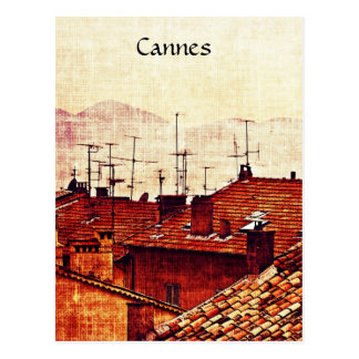 Cannes, Provence rooftops Postcard