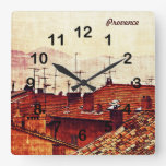 Cannes, Provence rooftops wall clock