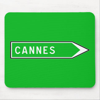 Cannes, Road Sign, France Mouse Pad