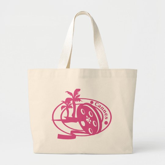 Cannes Stamp Large Tote Bag