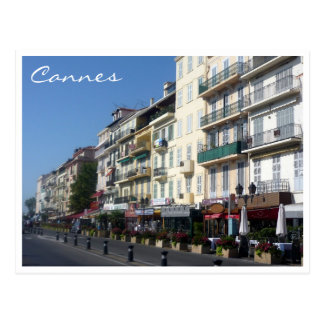 cannes streetscape postcard