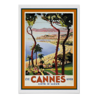 Cannes Travel Poster  ca.1938- 13 x 19