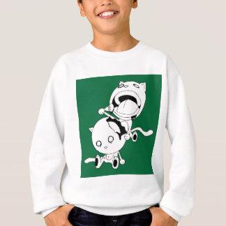 Cannibal Cat Green Sweatshirt