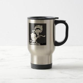 Cannibal Cat Grey Travel Mug