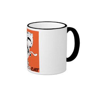 Cannibal Cat Orange Ringer Mug
