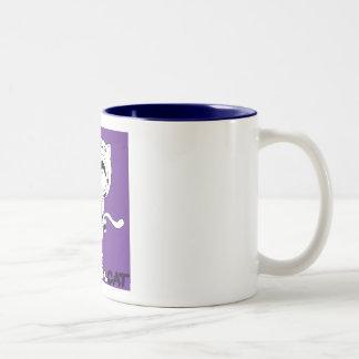 Cannibal Cat Two-Tone Coffee Mug