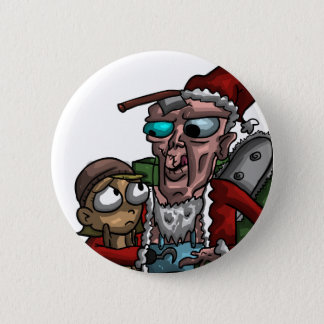 Cannibal Claus Pinback Button