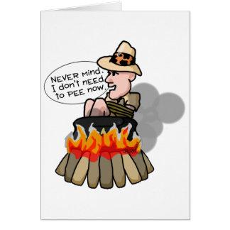 Cannibal Cooking Pot Card