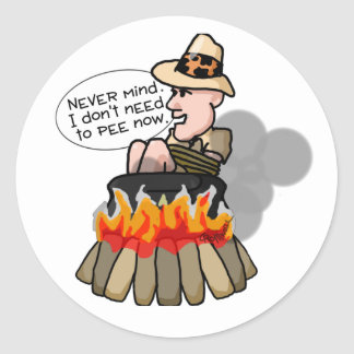 Cannibal Cooking Pot Classic Round Sticker