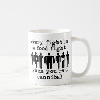 Cannibal Food Fight Funny Mug Humor