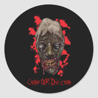 Cannibal Head Sticker - Color or Die