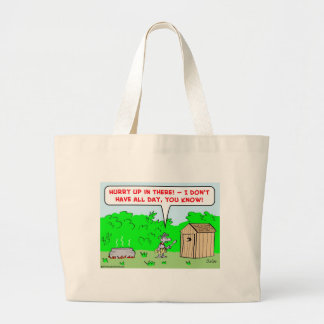 cannibal hurry up canvas bag