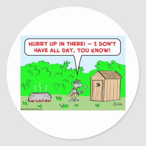 cannibal hurry up classic round sticker