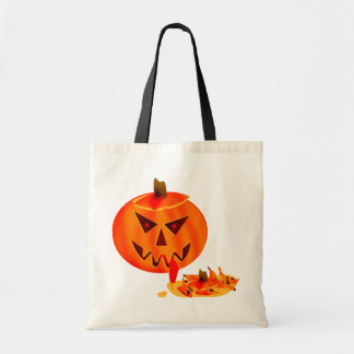 Cannibal Jack O Lantern Tote Bags