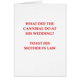 cannibal joke card