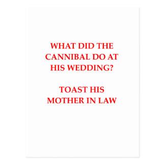 cannibal joke postcard