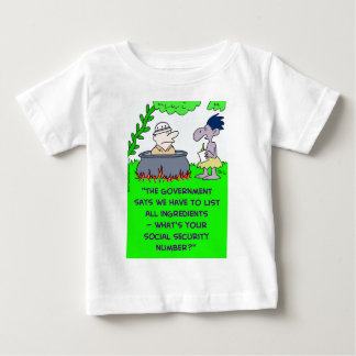 cannibal list ingredients social security number baby T-Shirt