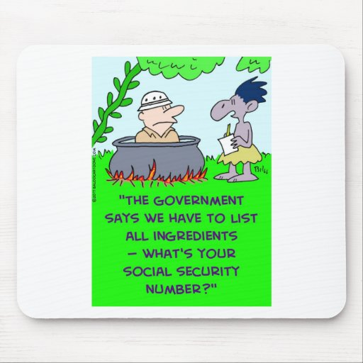 cannibal list ingredients social security number mousepads