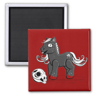 Cannibal Pony 2 Inch Square Magnet