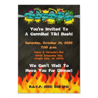 Cannibal Tiki Bash Headhunter Style Party - 3.5x5 Paper Invitation Card