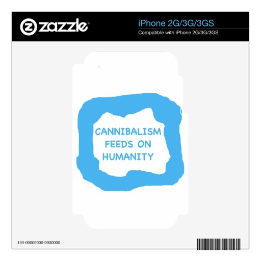 Cannibalism feeds on humanity .png decals for the iPhone 3GS