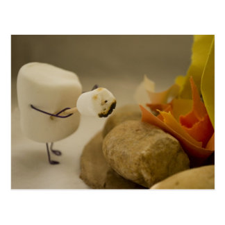 Cannibalism is Sweet - Marshmallow toasting Postcard
