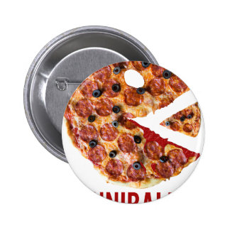 Cannibalism Pizza Eat Funny Food Button